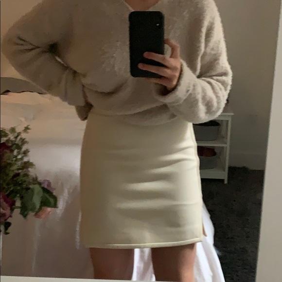 J. Crew Dresses & Skirts - Jcrew cream wool mini skirt